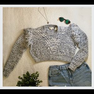 Cropped sweater from Rebecca Taylor. It's size S.